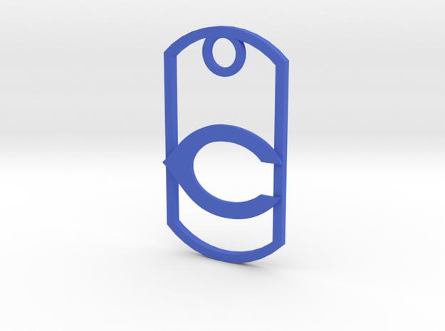 "Carlsbad ""C"" key fob in Blue Processed Versatile Plastic"