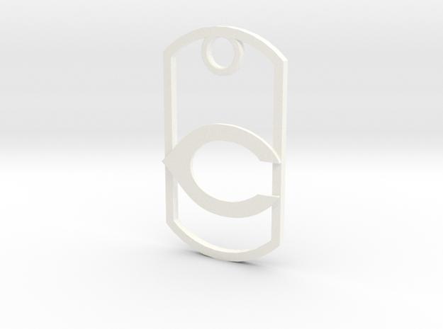 "Carlsbad ""C"" key fob 3d printed"