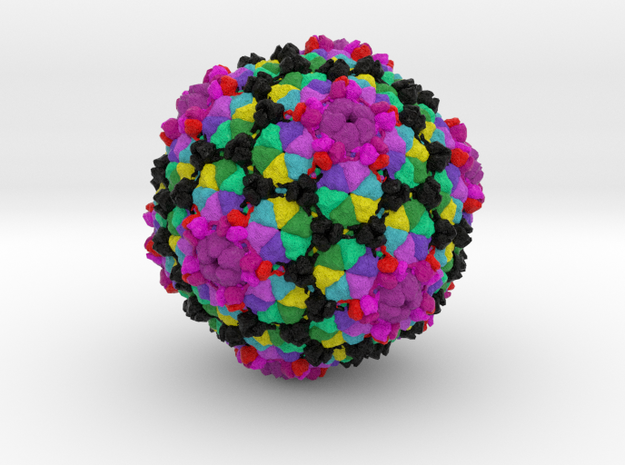 YSD1 Bacteriophage in Natural Full Color Sandstone