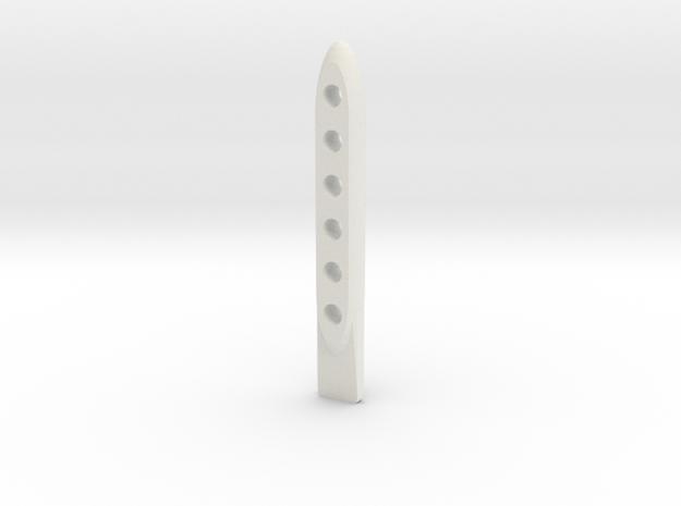 +tool Scratch Card Scraper Ver2 3d printed Shapeways Render - White Strong & Flexible