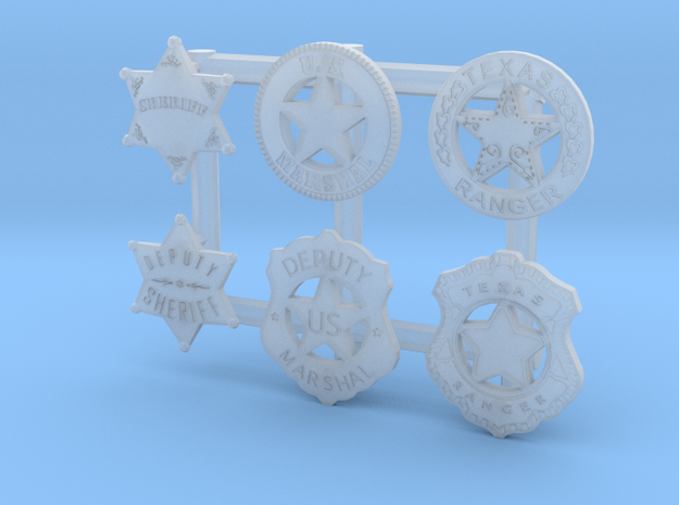 1:6 BADGES COLLECTION in Smooth Fine Detail Plastic
