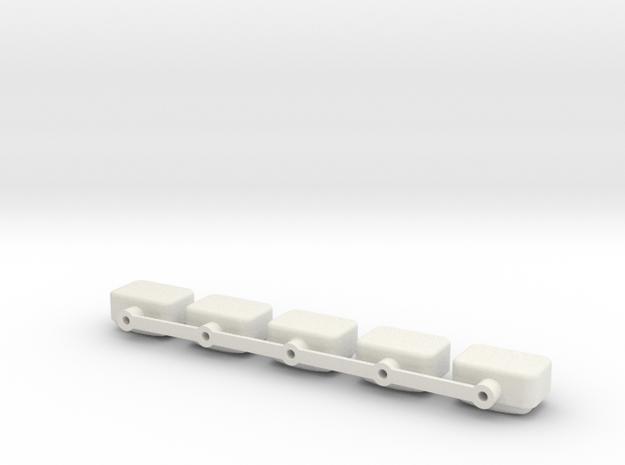 84-93 truck - KC 5 light base in White Natural Versatile Plastic