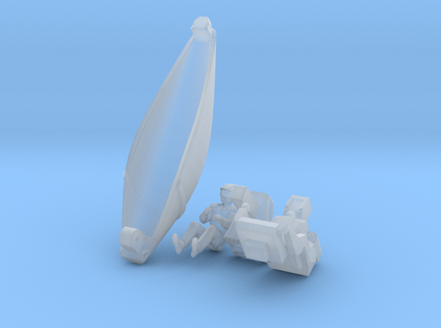KF40 Clear parts scale 1:72 in Smooth Fine Detail Plastic