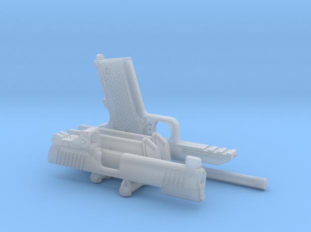 1:6 1911 Pistol w/ Slide mtd. RDS  in Smooth Fine Detail Plastic