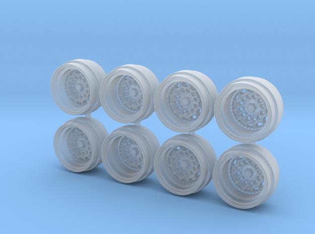HVN 9-0 Hot Wheels Rims in Smooth Fine Detail Plastic