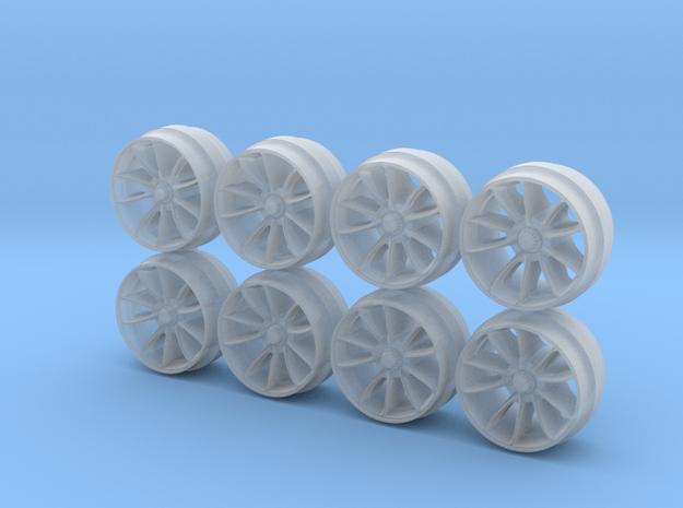 GT3RS Centerlock 9 Hot Wheels Rims in Smooth Fine Detail Plastic