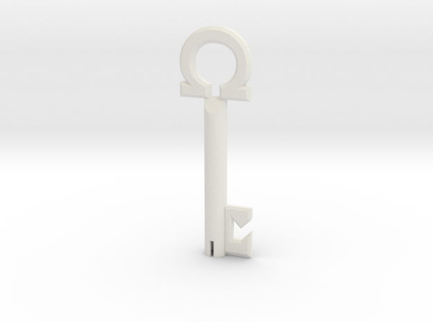 Omega Key in White Natural Versatile Plastic