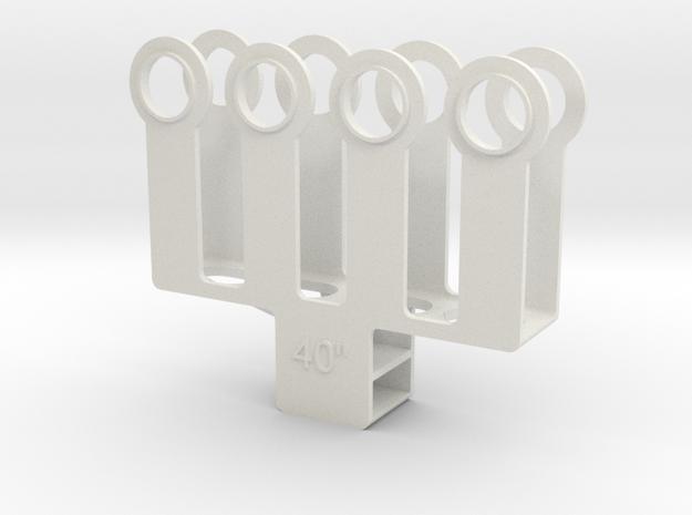 """HO 1/87 Paint mask for 40"""" diameter wheel sets  in White Natural Versatile Plastic"""