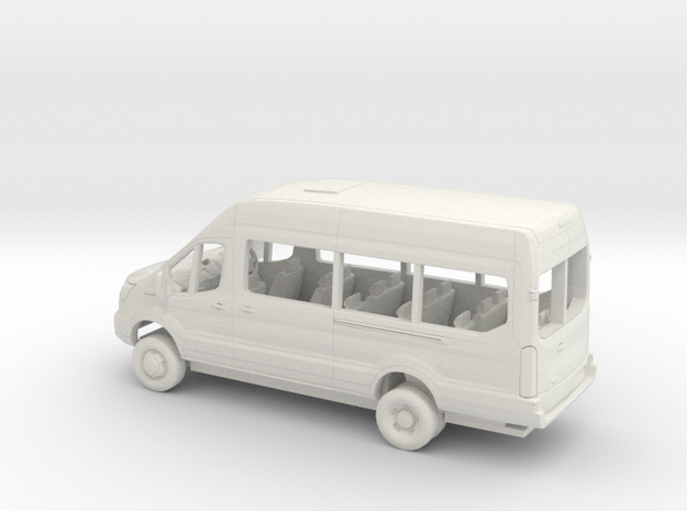 1/76 2018 Ford Transit High Extended Van Kit RHD in White Natural Versatile Plastic