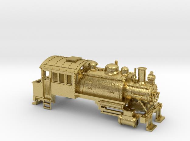 Z Scale 0-6-0 Saddle Tank Switcher Locomotive in Natural Brass