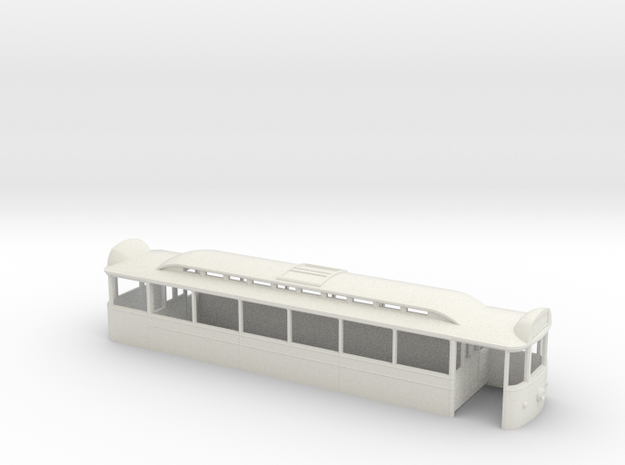 Blackpool Pantograph Tram Final Condition 7mm Body in White Natural Versatile Plastic