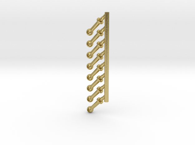 G SCALE LONG BOILER STANCHIONS 8PK in Natural Brass
