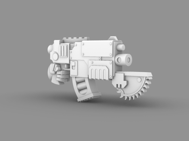 Space Knight V10 Nailer Gun w/ Saw Tip (Left) in Smooth Fine Detail Plastic