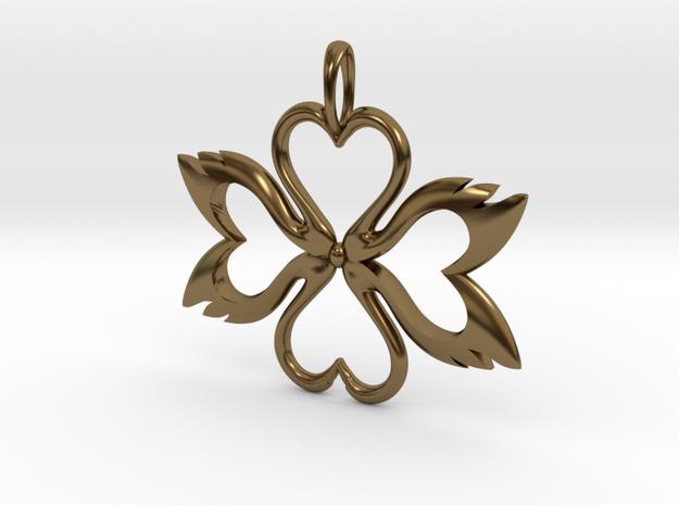 Swan-Heart Pendant 3d printed