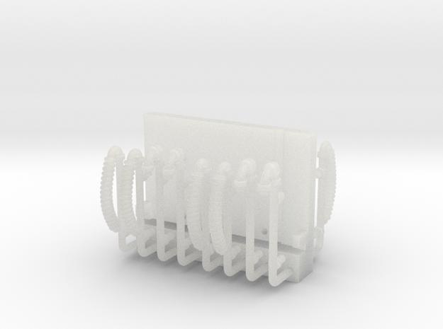 ZB (H0e) - Bremsenleitungen einzeln für 4 Personen in Smooth Fine Detail Plastic