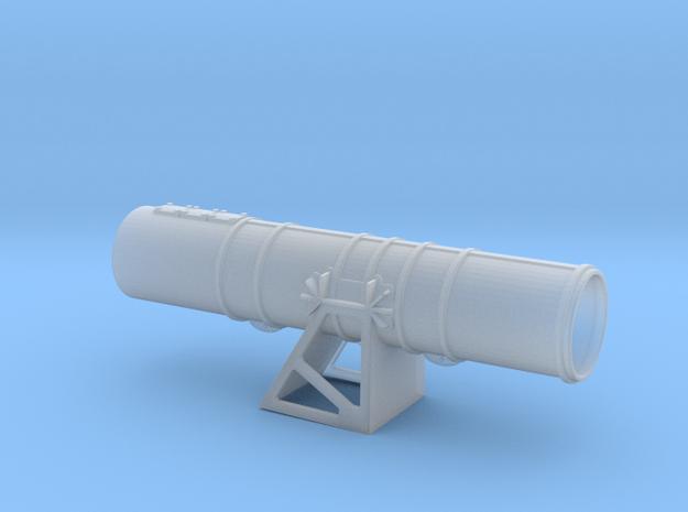 HigginsTorpedoTube PORT front in Smooth Fine Detail Plastic