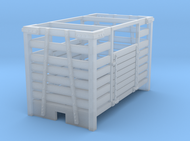 009 open topp cattle wagon in Smooth Fine Detail Plastic