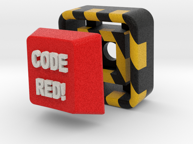 Full Color Key of Code Red! 3d printed