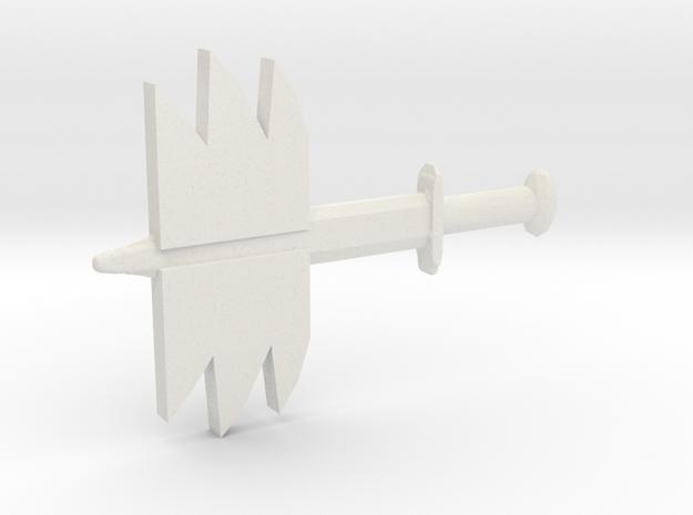 Sword Flame v1 in White Natural Versatile Plastic
