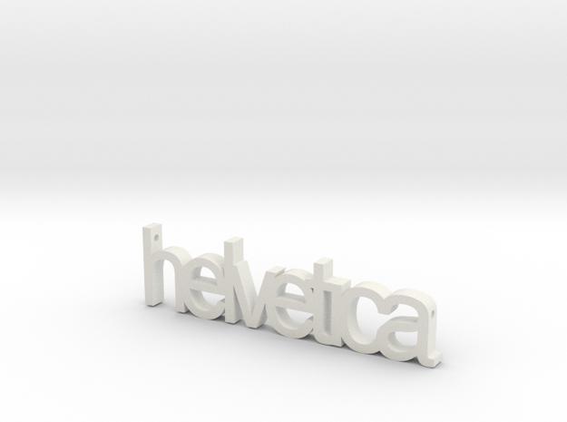 Helvetica Pendant in White Natural Versatile Plastic
