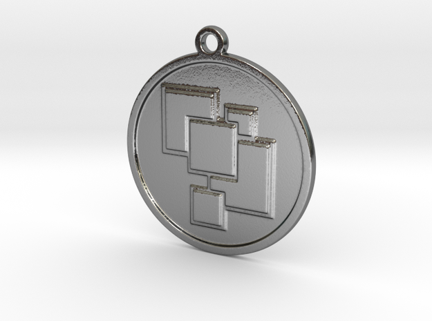 Geometric pendant in Polished Silver