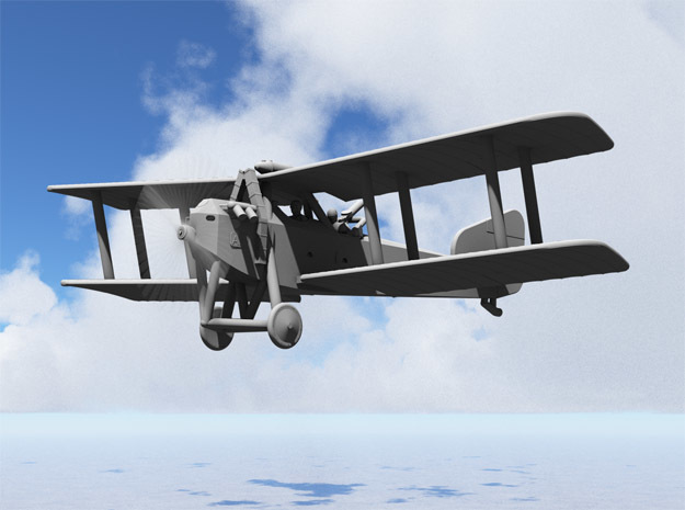Armstrong-Whitworth F.K.8 (early, multiscale) in Gray PA12: 1:144