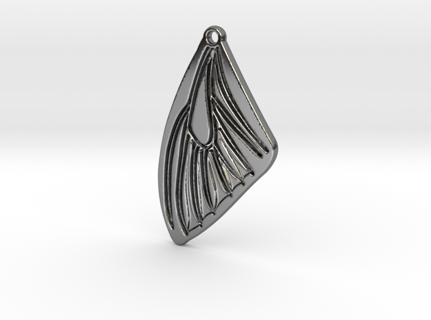 Butterfly wing in Fine Detail Polished Silver