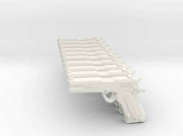 ColtM1911 SET in White Natural Versatile Plastic
