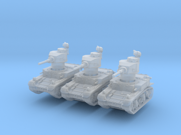 M3 Stuart early (x3) 1/220 in Smooth Fine Detail Plastic