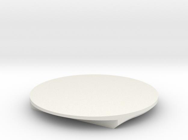 DISC6-FWD-2B-XG in White Natural Versatile Plastic