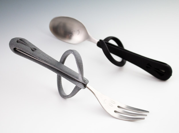 New Cutlery Holder 2 in Gray PA12
