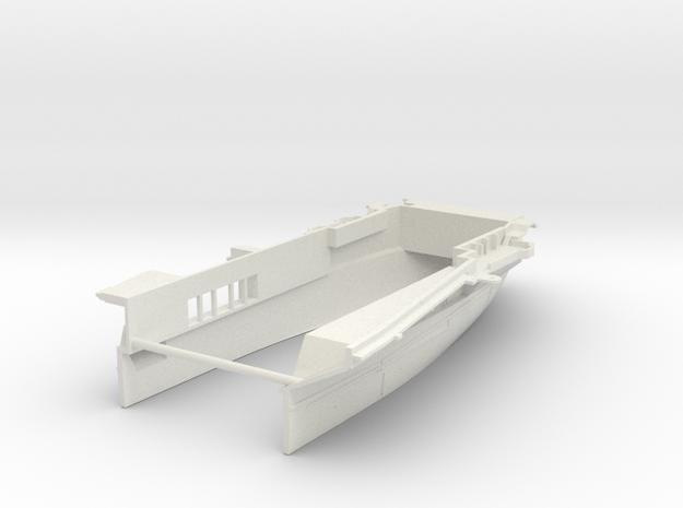 1/600 CVS-11 Intrepid Stern Waterline Open Doors in White Natural Versatile Plastic