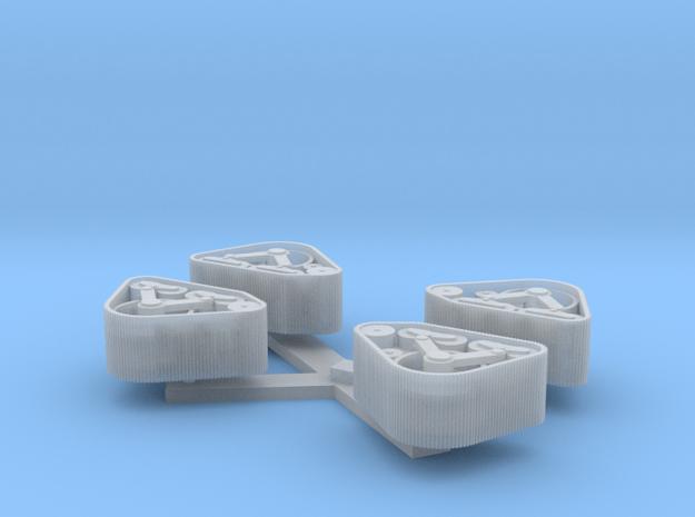 loopwerk 1:120 mcMurdo voorkant 2 sets in Smoothest Fine Detail Plastic: 1:120 - TT