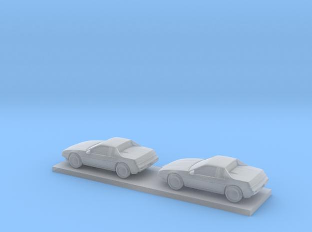 1/220 2X 1983-86 Pontiac Fiero in Smooth Fine Detail Plastic
