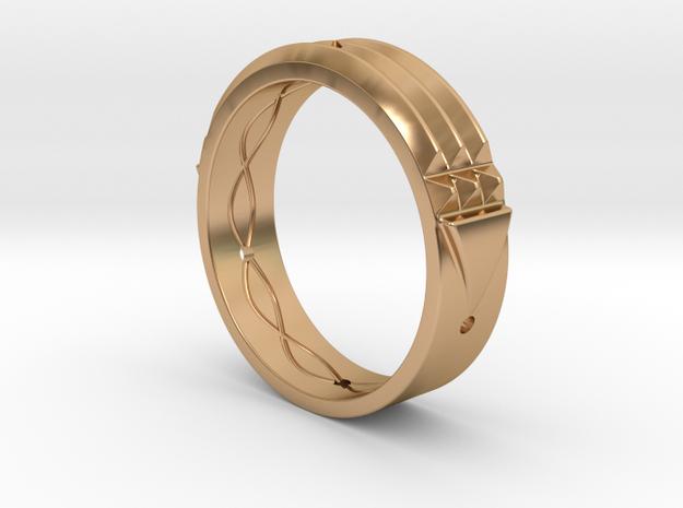 Atlantis Ring 15 in Polished Bronze