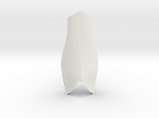 Large Shin 3 | CCBS  in White Natural Versatile Plastic