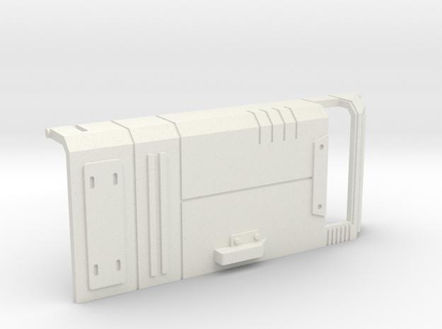 Starcom - Skyroller - left door in White Natural Versatile Plastic
