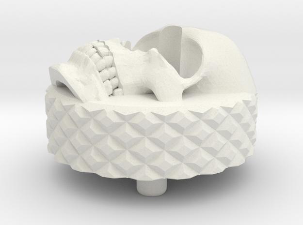 Skull BackCap Short Length Emek/Etha2/MG100  in White Natural Versatile Plastic