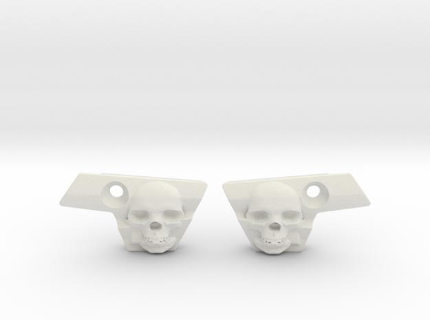 Skull Eye Covers for Emek and Etha2  in White Natural Versatile Plastic