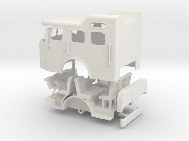 1/64 E-One Cyclone Split Roof cab in White Natural Versatile Plastic