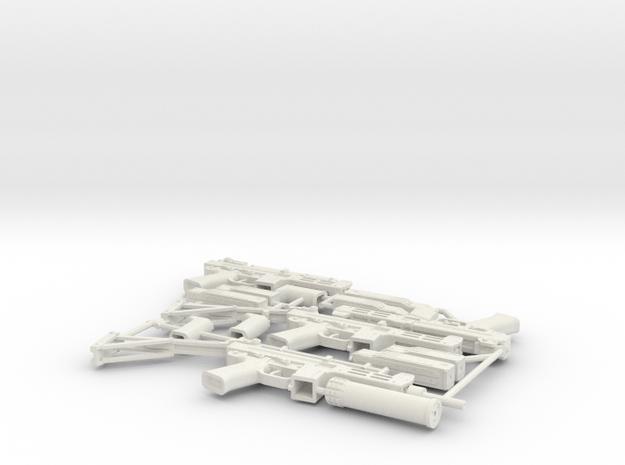 1:6 Spectre M4 SMG set in White Natural Versatile Plastic