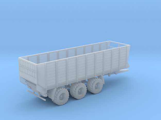 NEW1:160/N-Scale Silage Trailer 3-axle Fixed Model in Smooth Fine Detail Plastic