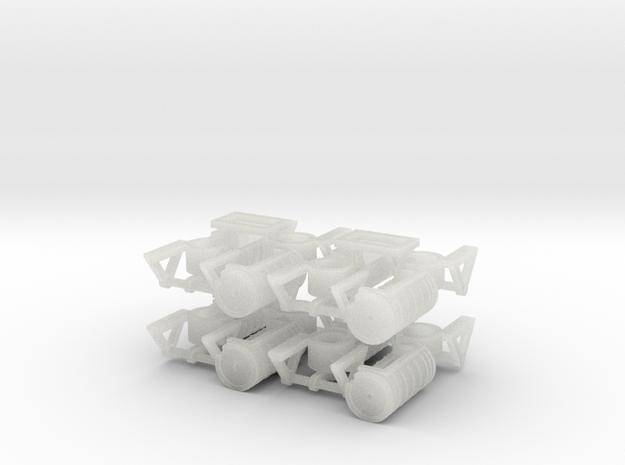 ZB (H0e) - Bremsaggregate für 8 4ax-Wagen in Smooth Fine Detail Plastic
