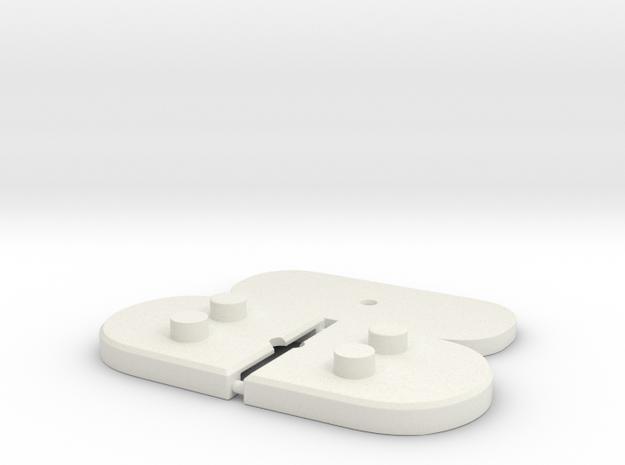 Bustholder bases in White Natural Versatile Plastic: d3