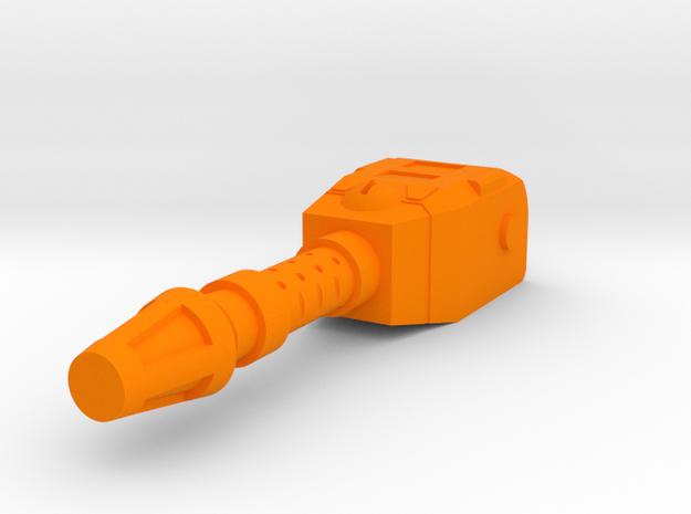 Starcom - Blast Track - Turret canon in Orange Processed Versatile Plastic