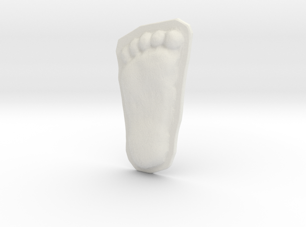 Bigfoot Footprint Cast 1/4 Scale 3d printed