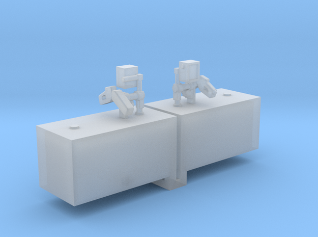 Fuel Cell Box With Fuel Filler 1-64 Scale in Smooth Fine Detail Plastic