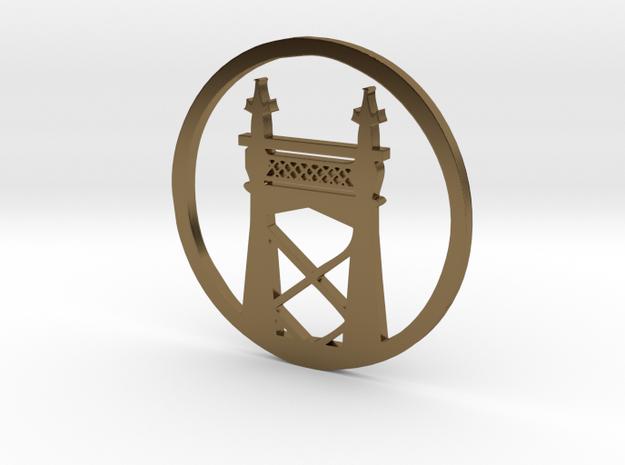 Queensboro Bridge pendant in Polished Bronze