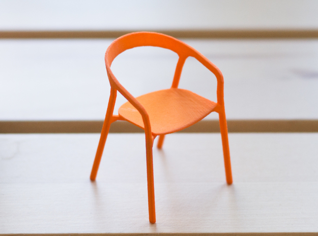 She Said Chair - 6cm tall in Orange Processed Versatile Plastic