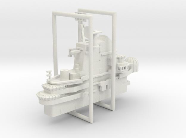 1/600 CVS-11 USS Intrepid Island in White Natural Versatile Plastic